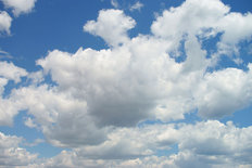 Clouds With Blue Sky Wallpaper Mural