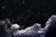 Night Sky with Clouds and Stars Wallpaper Mural