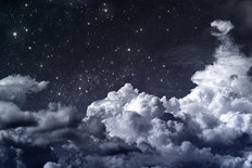 Starry Night Clouds Wallpaper Mural