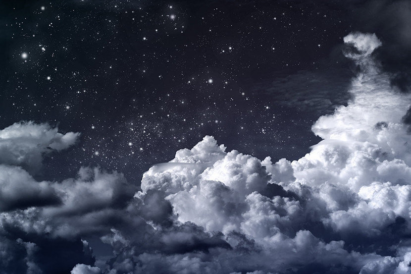 cool wallpaper of moon and clouds at night