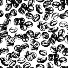 Coffee Bean Pattern Wallpaper