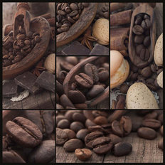 Coffee Bean Collage Wall Mural