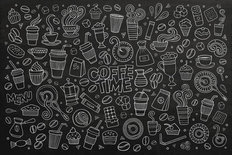 Coffee Time Doodle Wall Mural