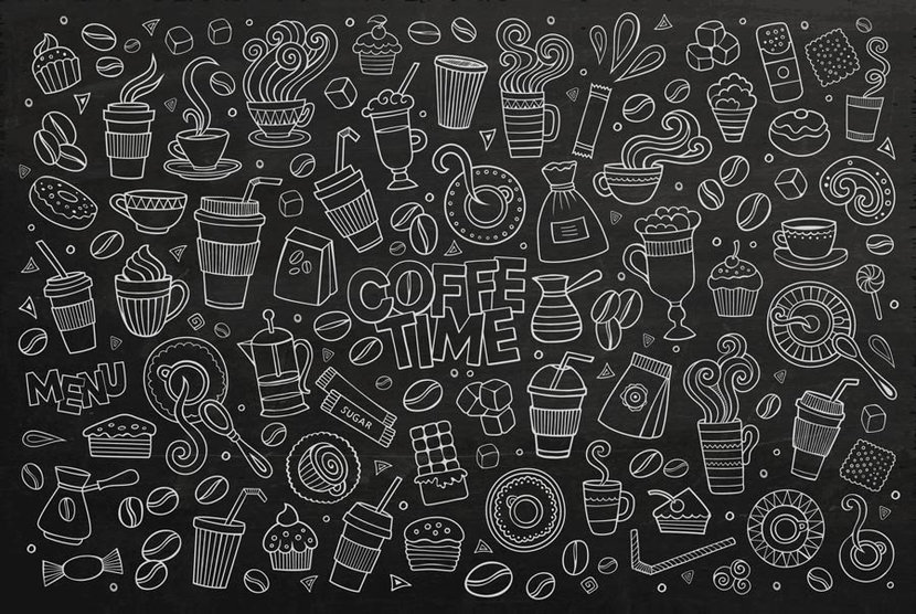 Coffee Time Doodle chalkboard inspired image