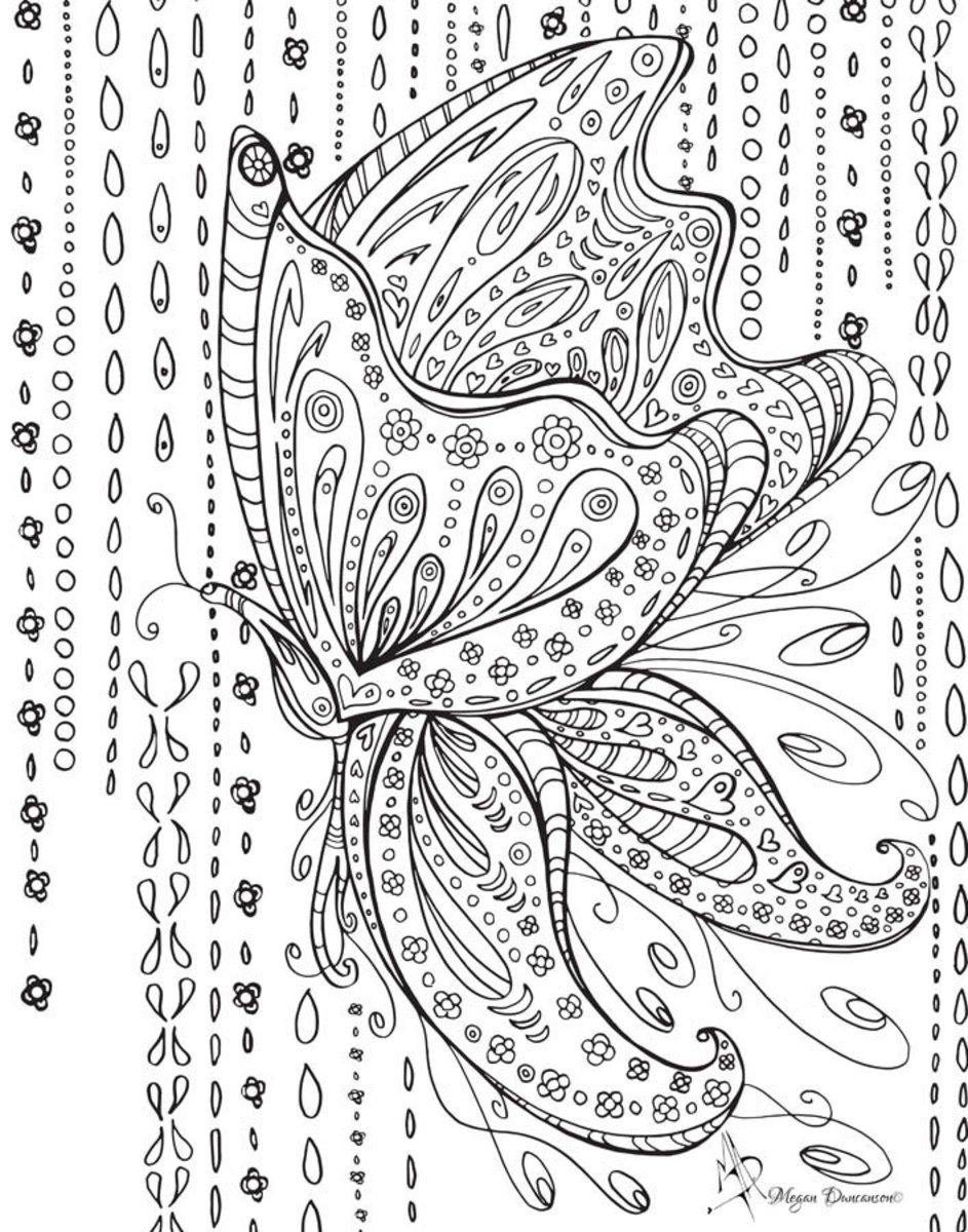Colorable Butterfly Wall Mural