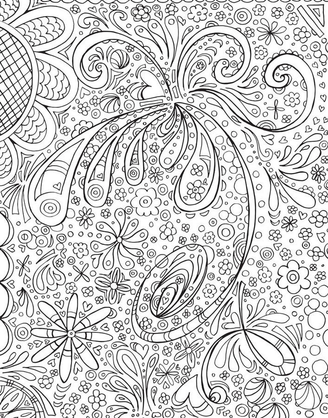 Colorable Flowers Wall Mural