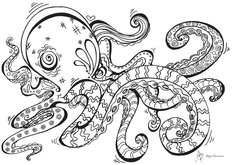 Colorable Octopus Wall Mural