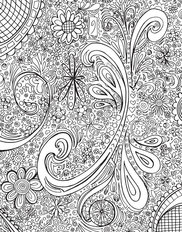Colorable Swirls Mural Wallpaper
