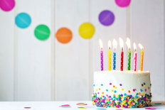 Colorful Birthday Cake Wall Mural