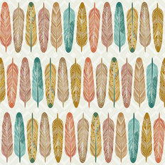 Colorful Feather Pattern Wallpaper