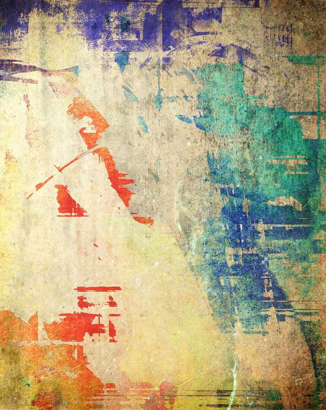 Colorful Grunge Texture Wall Mural