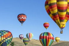 Colorful Hot Air Balloons Mural Wallpaper