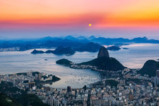 Colorful Sunset Over Rio Wallpaper Mural
