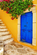 Colors Of Greece Mural Wallpaper