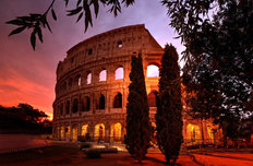 Colosseum Sunrise Mural Wallpaper