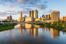 Columbus, Ohio Skyline Mural Wallpaper