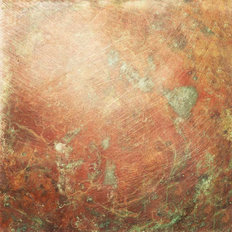 Old And Scratched Copper Metal  Wallpaper Mural