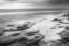 Coquina Beach Tide Black & White Wall Mural