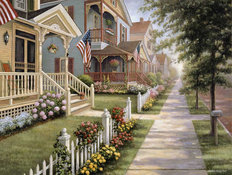 Country Homes Wallpaper Mural