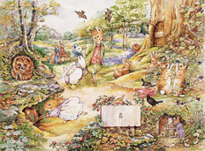 Country Woodlands Wallpaper Mural (With Sign)