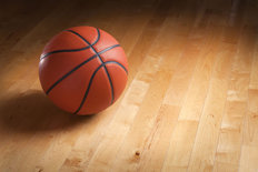 Court Floor Basketball Wallpaper Mural