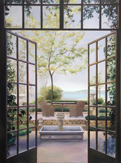 Courtyard View Wallpaper Mural
