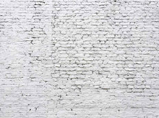 Cracked White Brick Wall Mural Wallpaper