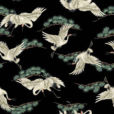 Crane Dance Pattern Wallpaper