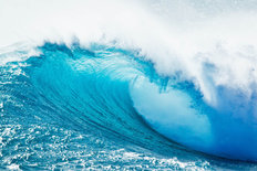 Crashing Ocean Wave Mural Wallpaper