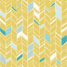 Yellow Creative Herringbone Pattern Wallpaper
