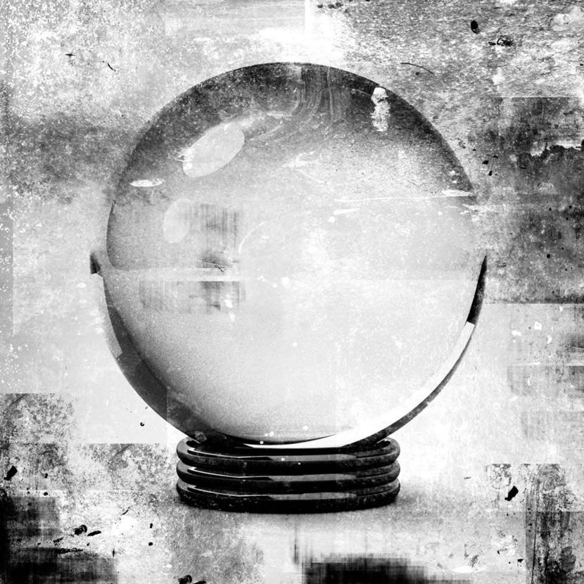 crystal ball in grunge style illustrations