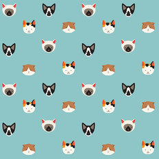 Cute Cat Pattern Wallpaper