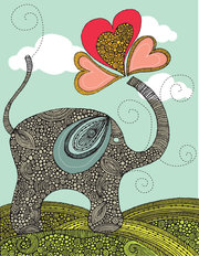 Cute Elephant Mural Wallpaper