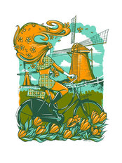 Cycle Dutch Wall Mural