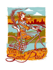 Cycle St Paul Wall Mural