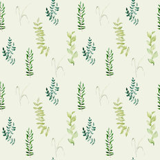Dainty Leaves Pattern Wallpaper