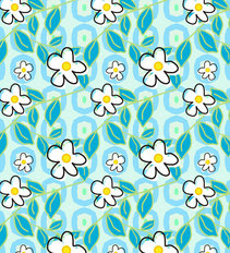 Daisies on Blue Wallpaper