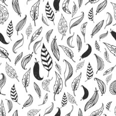 Dancing Feathers Pattern Wallpaper