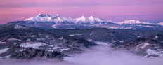 Dawn At Tatra Mountains Wallpaper Mural