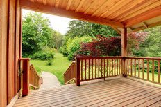 Deck With Beautiful Scenery Wall Mural