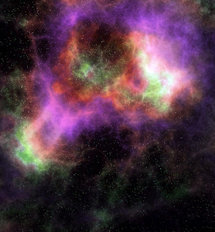 Deep Outer Space Nebula Wall Mural