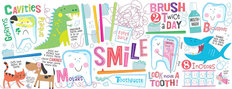 Dental Hygiene Pediatric Mural Wallpaper - Panoramic
