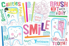 Dental Hygiene Pediatric Mural Wallpaper
