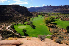 Desert Golf Course in Moab Wall Mural