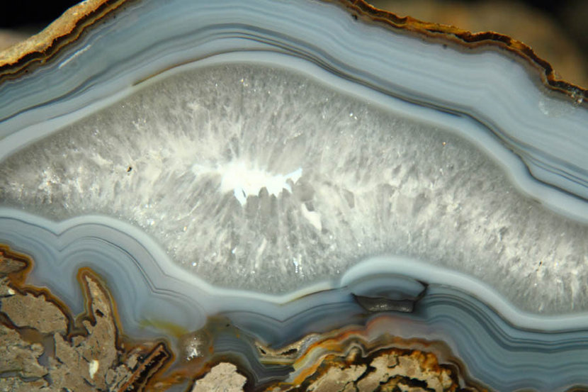 Detail Of Mineral Agate Texture Wallpaper Mural