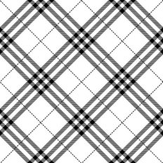 Diagonal Black And White Plaid Pattern Wallpaper