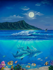 Diamond Head Romance Wall Mural