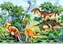 Dino Valley Landscape Mural Wallpaper