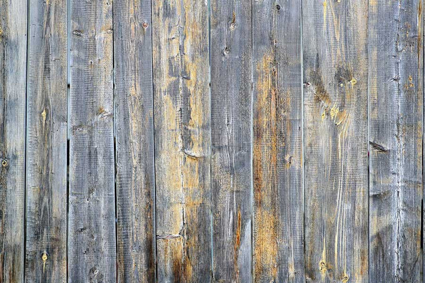 Weathered Grey Wooden Planks Wallpaper Mural