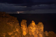 Distant Lightning During Storm - Australia Mural Wallpaper